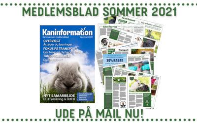 Medlemsbladet for sommeren 2021 er udkommet
